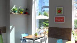 уютное кафе с хорошим ремонтом