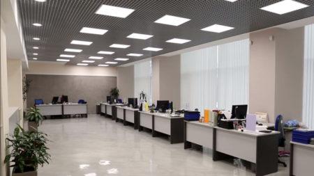 выполненный ремонт офиса